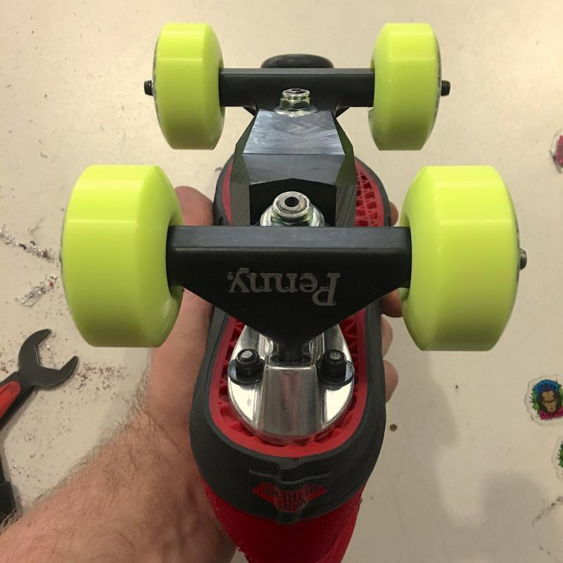 Aggressive roller skate plates and slider blocks at Bigfoot Bike & Skate.