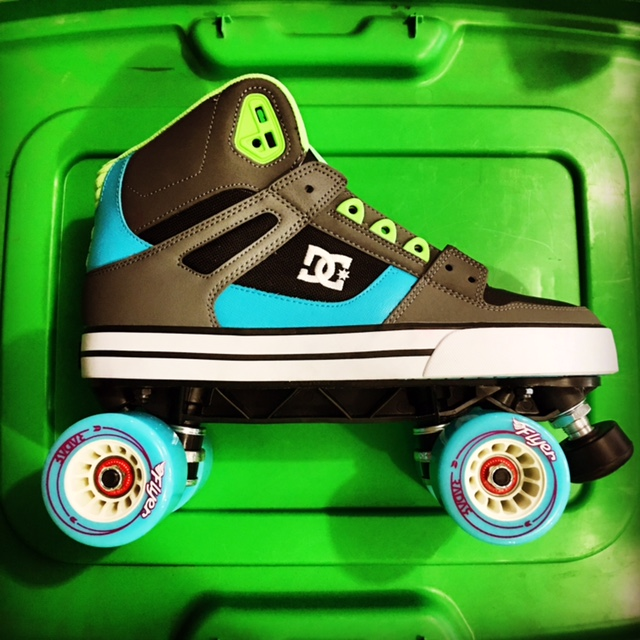 DC SHOES sneaker roller skates at Bigfoot Bike and Skate, Milwaukee, WI 53207.