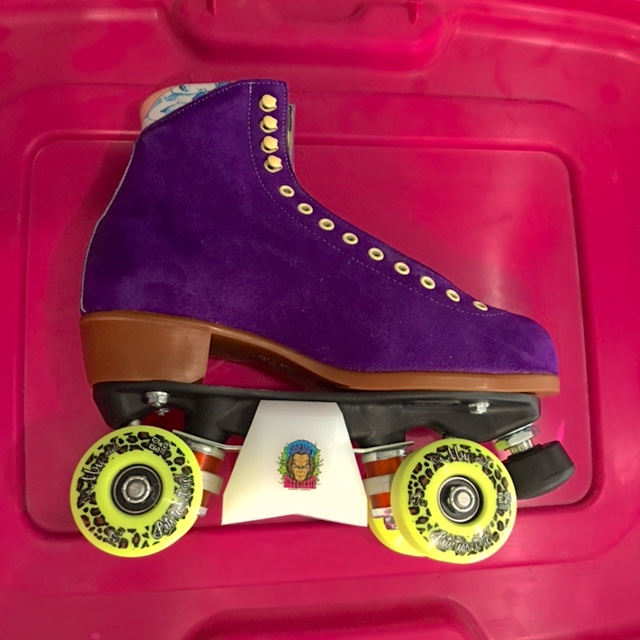 Moxi aggressive rollerskates w/ bigfoot slider blox at Bigfoot Bike & Skate.