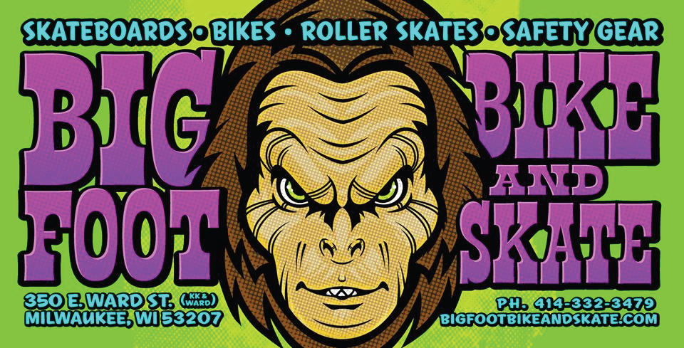 bigfoot bike and skate, 350 e. ward st., milwaukee, wi 53207, corner of KK & War