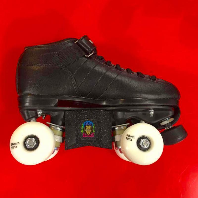 Riedell R3 skatepark roller skates with bigfoot blox & park wheels.