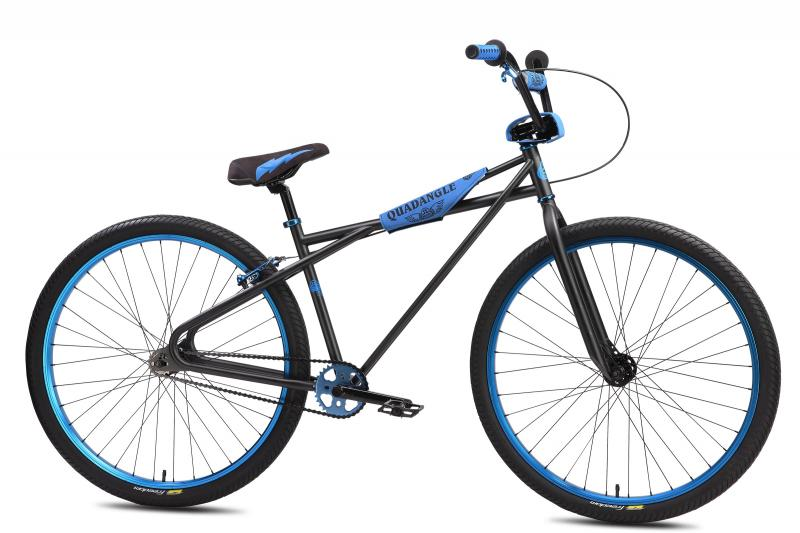 S.E. Bikes Quadangle 29er black and blue at Bigfoot Bike 7 skate, Milwaukee, WI.