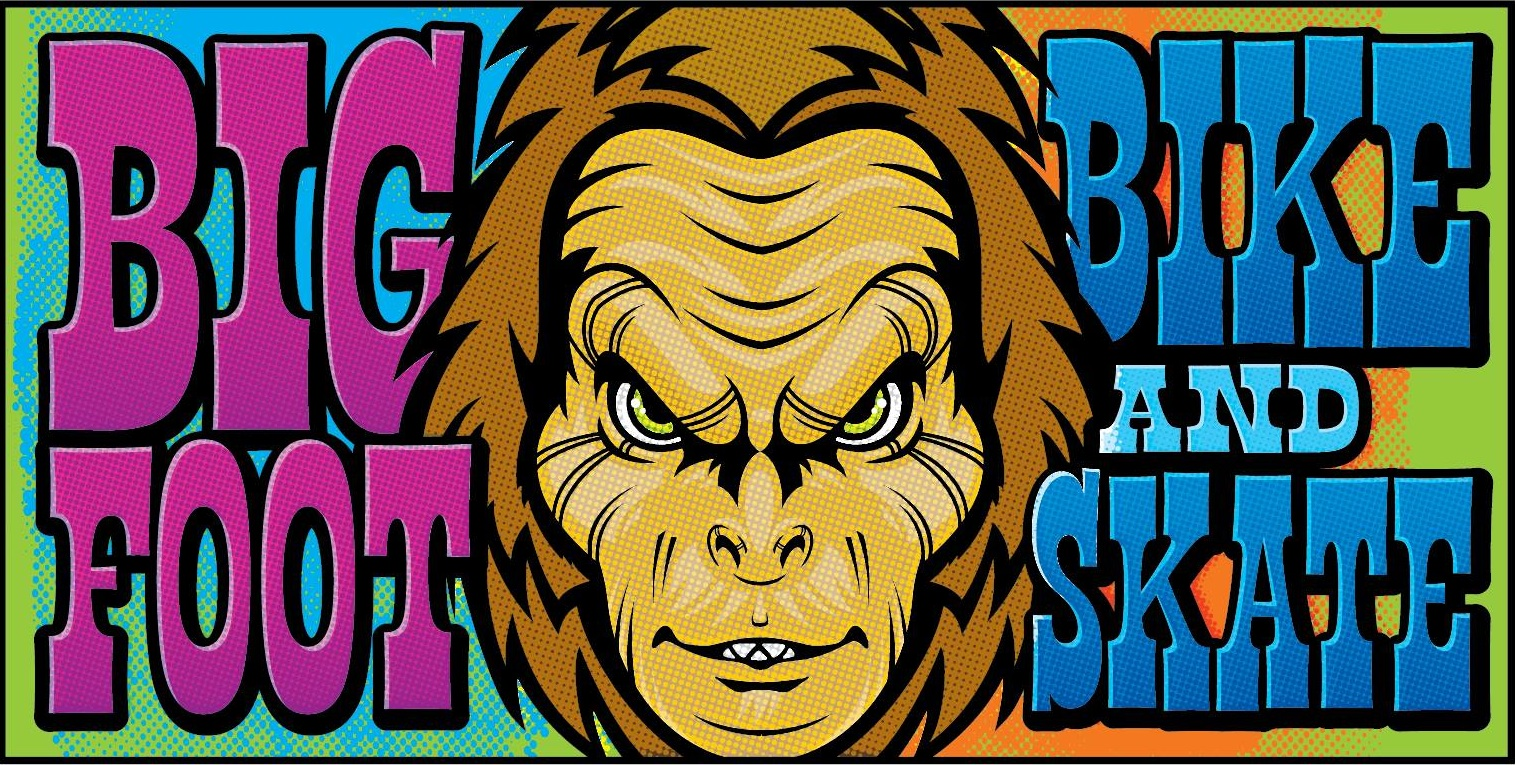 bigfoot bike and skate logo, milwaukee, wi 53207